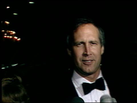 chevy chase at the afi awards honoring gregory peck at the beverly hilton in beverly hills california on march 9 1989 - gregory peck stock videos and b-roll footage