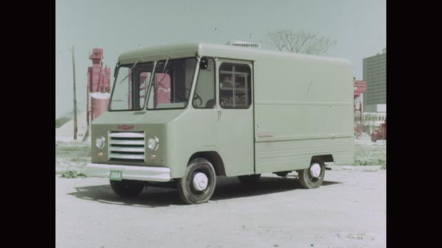 ms chevy van parked on roadside / united states - lieferwagen stock-videos und b-roll-filmmaterial