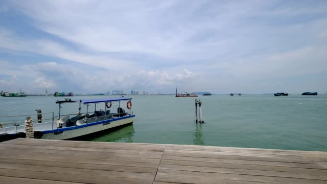 Chew Jetty is UNESCO World Heritage Site in Penang, Malaysia