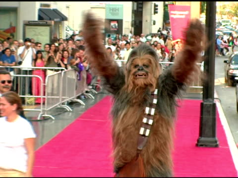 chewbacca at the 33rd afi life achievement award 'a tribute to george lucas' at the kodak theatre in hollywood, california on june 9, 2005. - afi life achievement award stock videos & royalty-free footage
