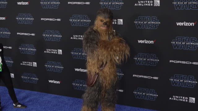 chewbacca at the premiere of disney's star wars the rise of skywalker on december 16 2019 in hollywood california - star wars stock videos & royalty-free footage