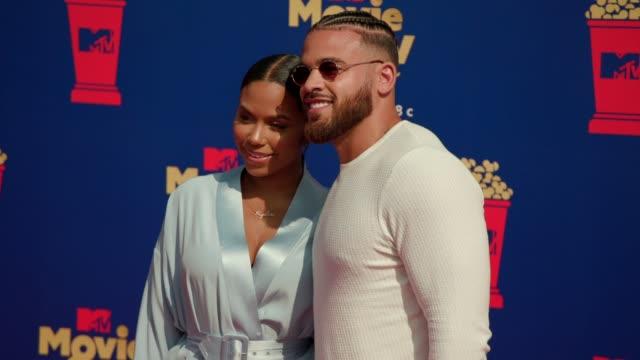 Cheyenne Floyd and Cory Wharton at the 2019 MTV Movie TV Awards at Barkar Hangar on June 15 2019 in Santa Monica California