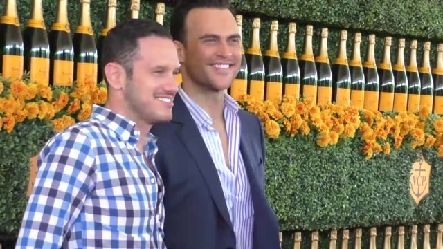 Cheyenne Jackson and Jason Landau at the sixth annual Veuve Clicquot Polo Classic at Will Rogers Historic State Park in Pacific Palisades at...