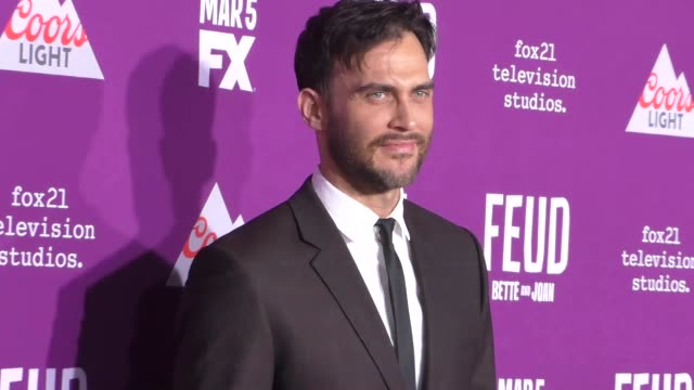 """cheyenne jackson at the premiere of fx network's """"feud: bette and joan"""" at tcl chinese theatre on march 01, 2017 in hollywood, california. - fx network stock videos & royalty-free footage"""