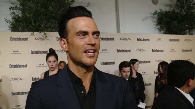 interview cheyenne jackson on 'american horror story' on favorite television moments from this past season and on what entertainment weekly means to... - entertainment weekly stock videos and b-roll footage