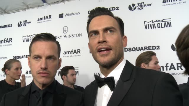 INTERVIEW Cheyenne Jackson on the event at amfAR's Inspiration Gala Los Angeles 2015 in Los Angeles CA