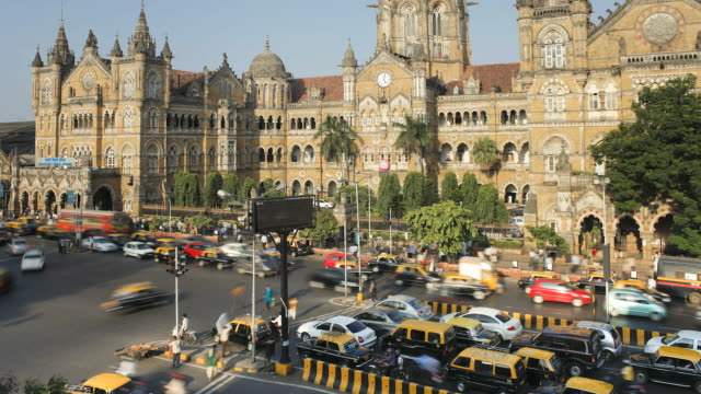Chhatrapati Shivaji Terminus (Victoria Terminus), Mumbai, Maharashtra State, India, South East Asia