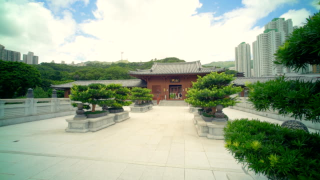 chi lin buddhist temple hong kong - palace stock videos & royalty-free footage
