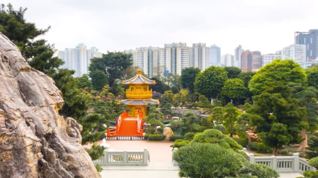 chi lin nunnery, hong kong - pagoda stock videos & royalty-free footage