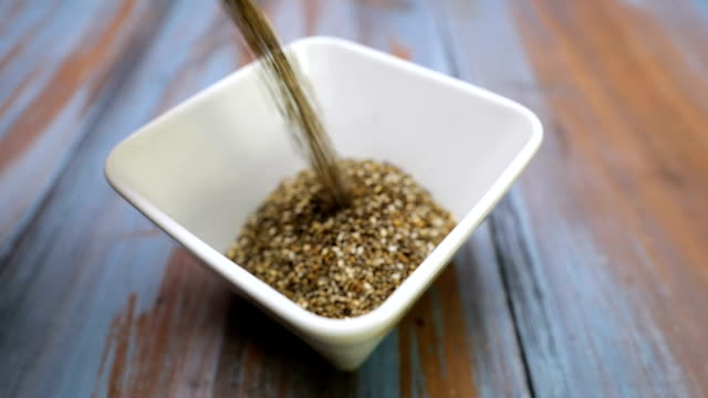 chia seed foward - seed stock videos & royalty-free footage
