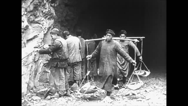 chiang kai shek / city life / general view of residntial district / people mining stone - chiang kai shek stock videos & royalty-free footage