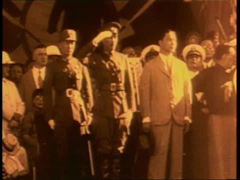 chiang kaishek becomes dr sun yatsen's successor - chiang kai shek stock videos and b-roll footage