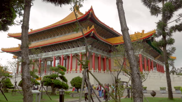 chiang kai-shek memorial hall in taipei, taiwan - chiang kaishek memorial hall stock videos & royalty-free footage