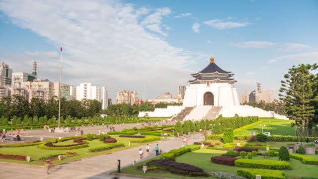 chiang kai-shek memorial hall time lapse - chiang kaishek memorial hall stock videos & royalty-free footage