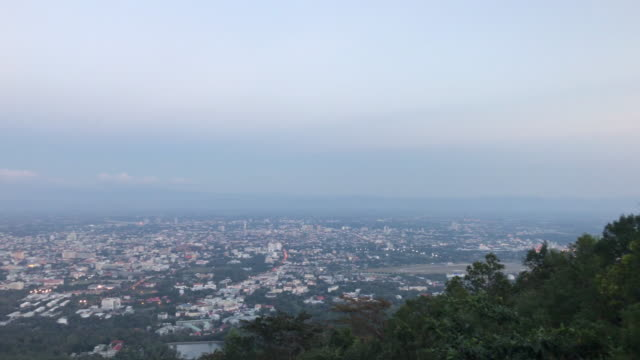 Chiang Mai city scape with beautiful sky