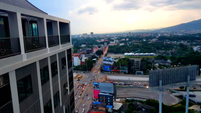 chiang mai city view with doi suthep mountain - penthouse stock videos and b-roll footage