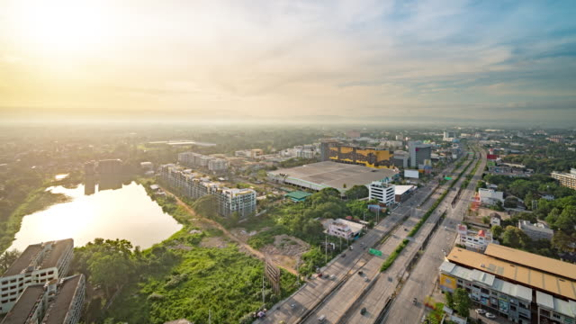 chiang mai cityscape - chiang mai province stock videos & royalty-free footage