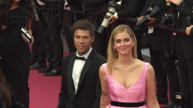 chiara ferragni federico leonardo at 'pope francis a man of his word' red carpet arrivals the 71st annual cannes film festival at grand theatre... - cannes stock videos & royalty-free footage