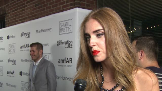 interview – chiara ferragni on why this event is so important on there being so much miscommunication about hiv/aids at amfar generationcure solstice... - retrovirus stock videos and b-roll footage