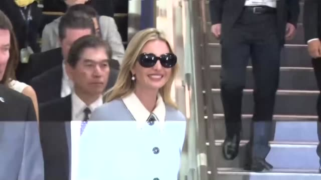 chiba, japan - nov. 2: ivanka trump, the u.s. president's daughter and senior advisor, arrived in japan on thursday for a three-day stay ahead of a... - weibliche angestellte stock-videos und b-roll-filmmaterial