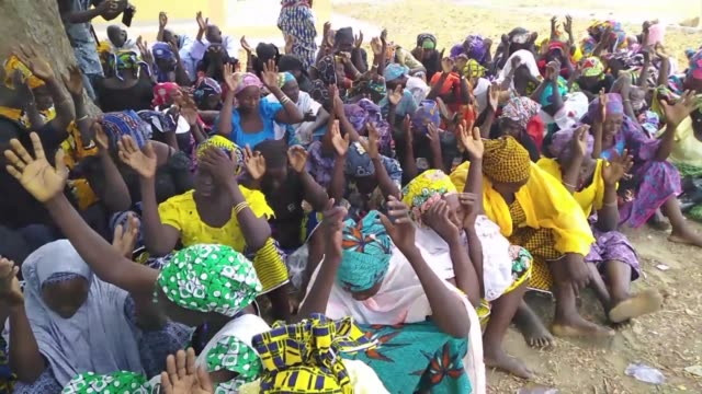 chibok residents commemorate the five year anniversary of the kidnapping of schoolgirls on april 14, 2014 when boko haram gunmen stormed the chibok... - kidnapping stock videos & royalty-free footage