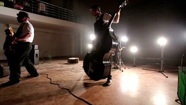 chic punk rock concert - string instrument stock videos and b-roll footage