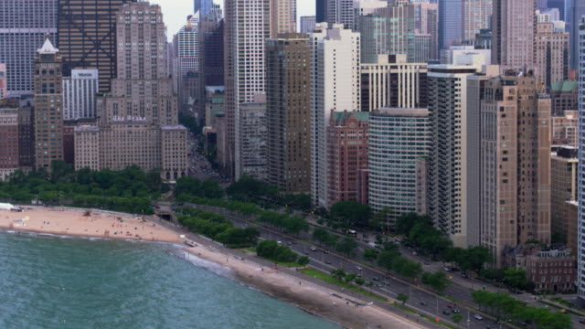 chicago-antenne - chicago illinois stock-videos und b-roll-filmmaterial