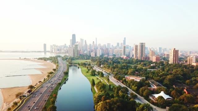 シカゴ航空 - イリノイ州点の映像素材/bロール