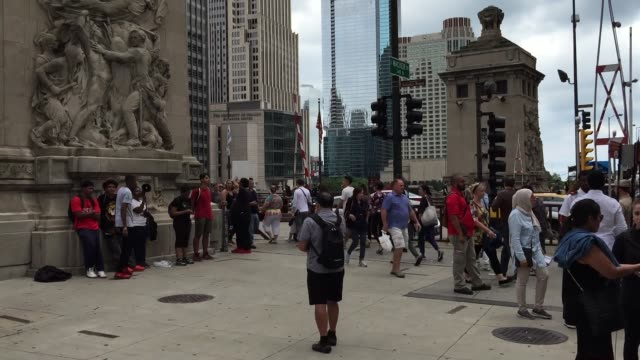chicago black lives matter protestors gathered on michigan and wacker at the historic fort dearborn site to bring attention to the inequalities of... - dearborn michigan stock videos and b-roll footage