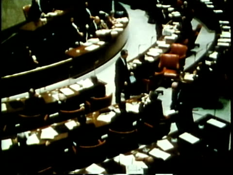 stockvideo's en b-roll-footage met 1963 montage chicago city council in session / chicago, united states / audio - 1963
