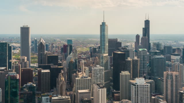 Chicago cityscape time-lapse