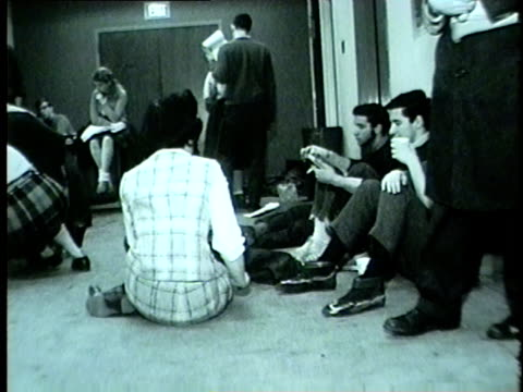 chicago college students possibly holding a sit-in in 1962. - 1962 stock videos & royalty-free footage