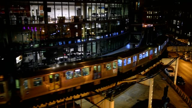 chicago curve - chicago 'l' stock videos & royalty-free footage