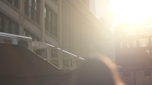 chicago el train backlight - högbana bildbanksvideor och videomaterial från bakom kulisserna