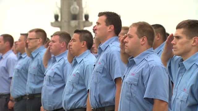 chicago firefighters say the 'pledge of allegiance' on september 11 2014 - pledge of allegiance stock videos & royalty-free footage