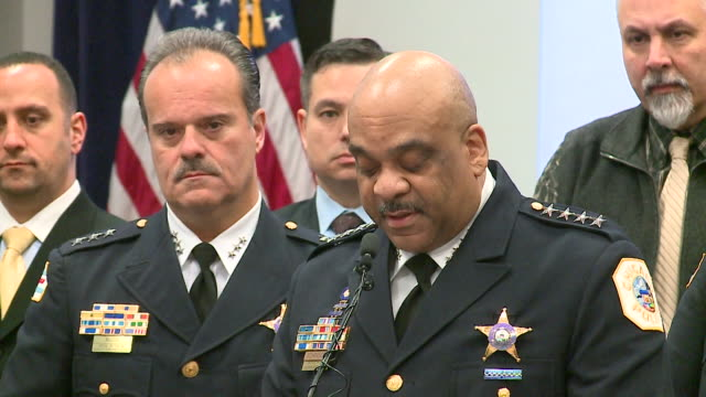 WGN Chicago IL Chicago Police Superintendent Eddie Johnson speaks during a press conference on February 21 at Chicago police headquarters about the...