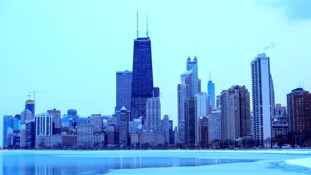 chicago, il in the winter - frost stock videos & royalty-free footage