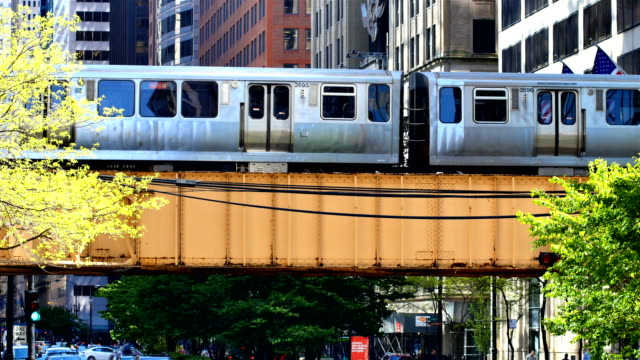chicago, il subway - chicago 'l' stock videos & royalty-free footage