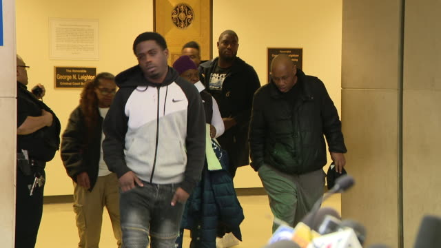 wgn chicago il us abel and ola osundairo leaving courtroom brothers were arrested in connection with smollett's purported hate crime but then... - bodyguard stock videos & royalty-free footage