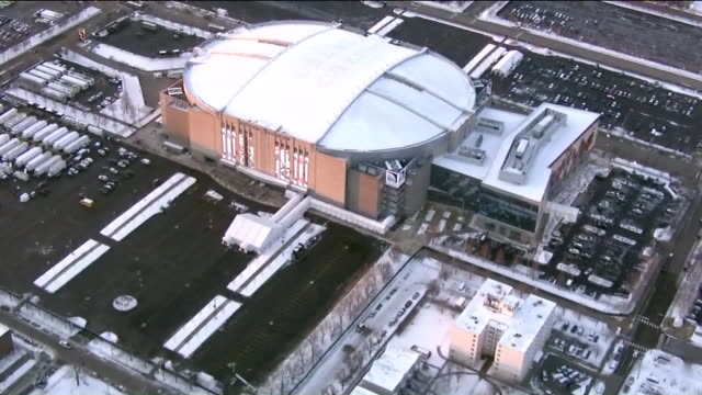 wgn chicago il us aerials of united center during nba allstar game weekend on friday february 14 2020 - male likeness stock videos & royalty-free footage
