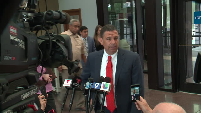 wgn chicago il us attorney hal garfinkel speaks to journalists at courthouse after piotr bobak was charged with covering up the death of marlen... - legal occupation stock videos and b-roll footage