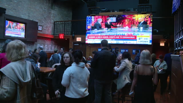 chicago, il, u.s., - 'biden for president' organization election results watch party, on tuesday, mar 10, 2020. - political party stock videos & royalty-free footage