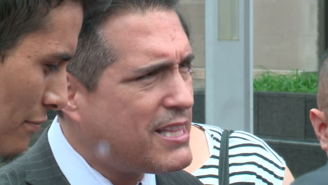 wgn chicago il us frank avila the attorney for ochoalopez's husband yovani lopez and lopez family spokeswoman julie contreras speak to journalists at... - legal occupation stock videos and b-roll footage