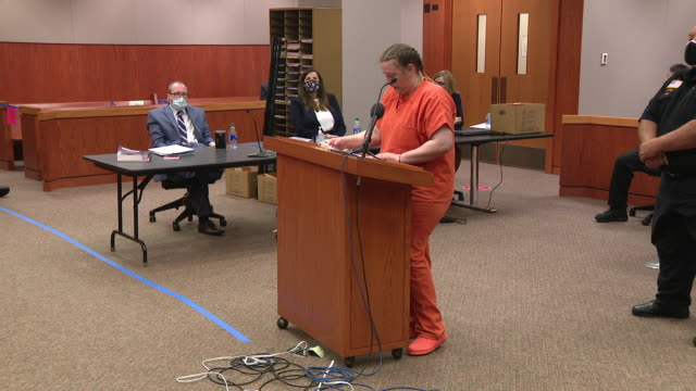 vidéos et rushes de chicago, il, u.s. - joann giving speech. joann cunningham was sentenced to 35 years in the murder of her son. after first reporting aj missing in... - autopsie