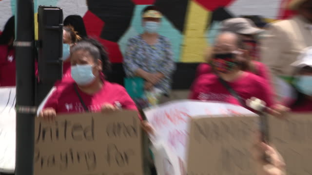 chicago, il, u.s. - latin woman speaking against police brutality during march on friday, june 5, 2020. - mature women stock videos & royalty-free footage