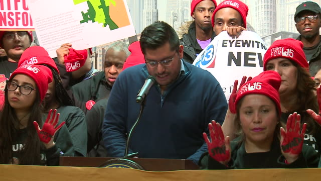 wgn chicago il us man speaks about mcdonald's failure in protecting its workers from violence in the workplace mcdonald's employees claim the... - woolly hat stock videos & royalty-free footage