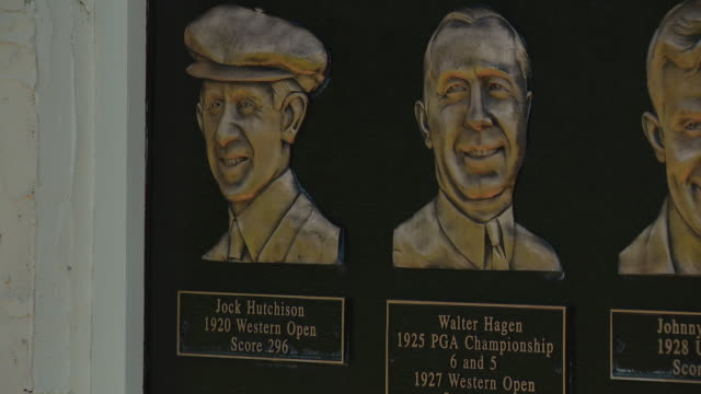wgn chicago il us memorial dedicated to former champions at the olympia fields country club ahead of the pga tour playoff event bmw championship... - female likeness stock videos & royalty-free footage