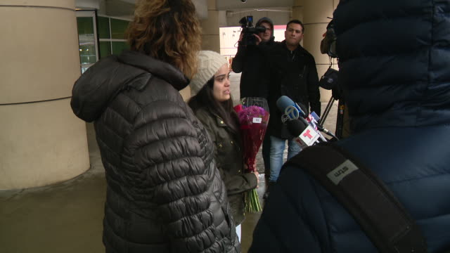 wgn chicago il us meydi guzman rivas speaking to media after her release from ice custody meydi was detained in october 2019 after government claimed... - ice us homeland security stock videos & royalty-free footage
