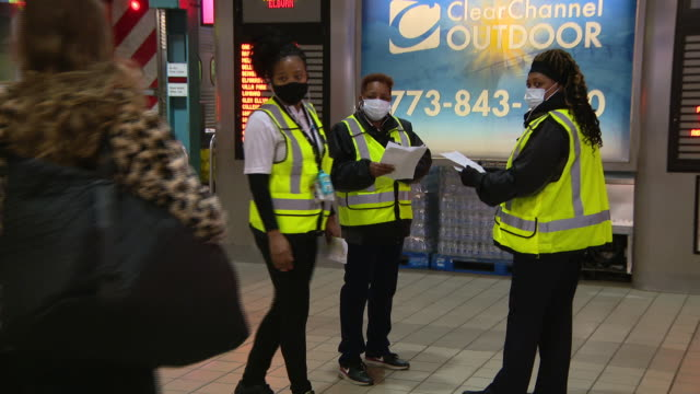 wgn chicago il us new ticket verification booths and union pacific employees at train station amid coronavirus pandemic on monday october 2020 metra... - verification stock videos & royalty-free footage