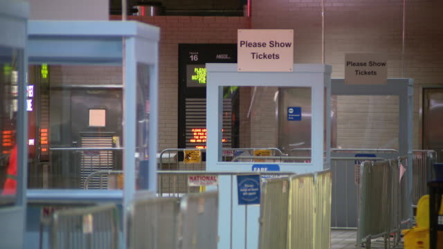 wgn chicago il us new ticket verification booths at metra train station on monday october 2020 metra halted collection of cash fares in march and... - verification stock videos & royalty-free footage